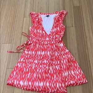 GAP 100% cotton wrap dress